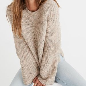 MADEWELL • Flecked Wide Sleeve Pullover Sweater
